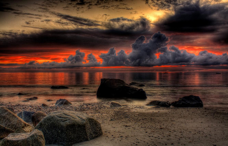 Photo wallpaper sand, sea, beach, the sky, landscape, sunset, nature, the ocean, rocks, colors, beach, sky, sea, …