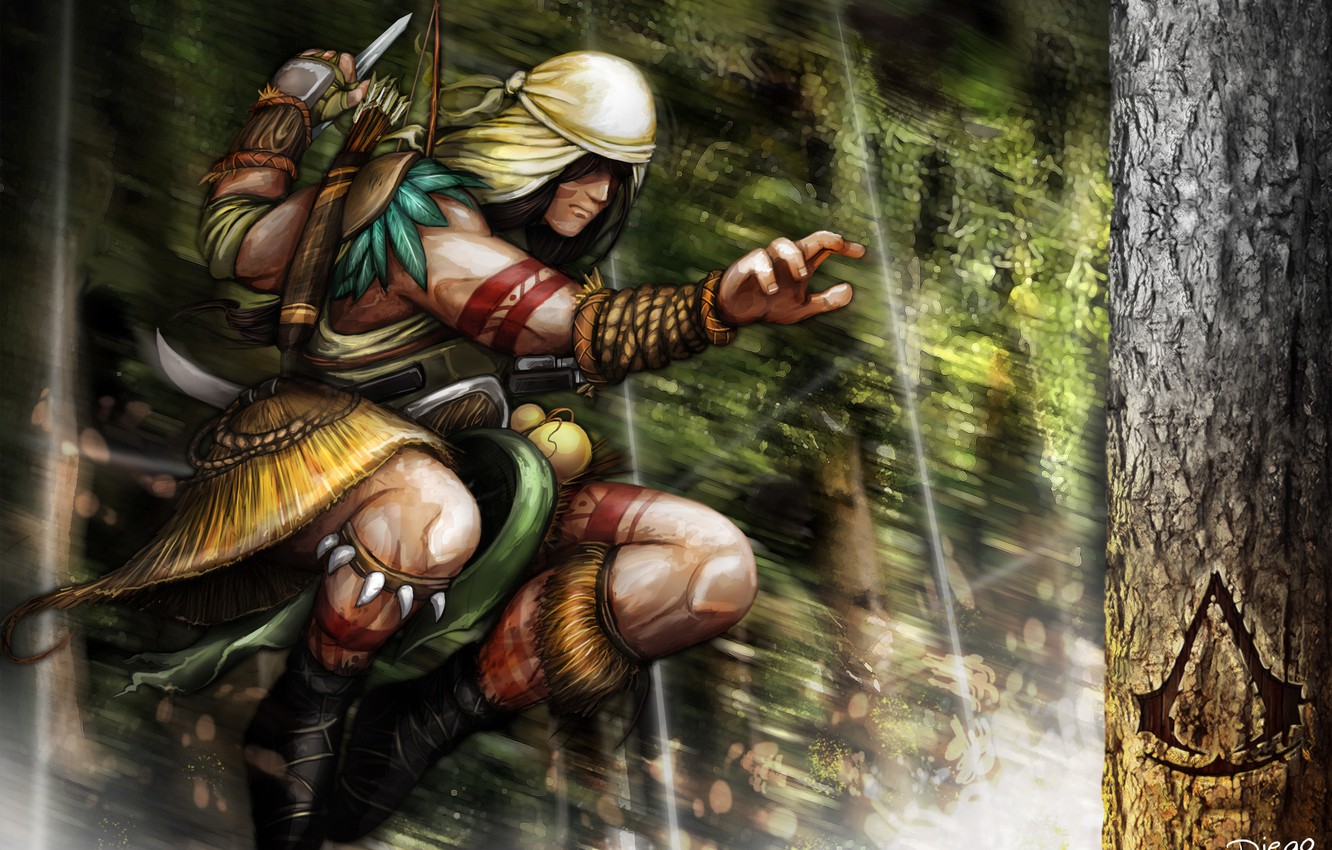 Wallpaper Tree Jump Concept Assassins Creed Assassin Brasil