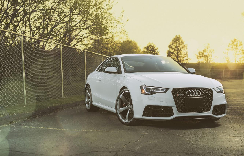 Photo wallpaper Audi, Audi, white, before, white, Coupe