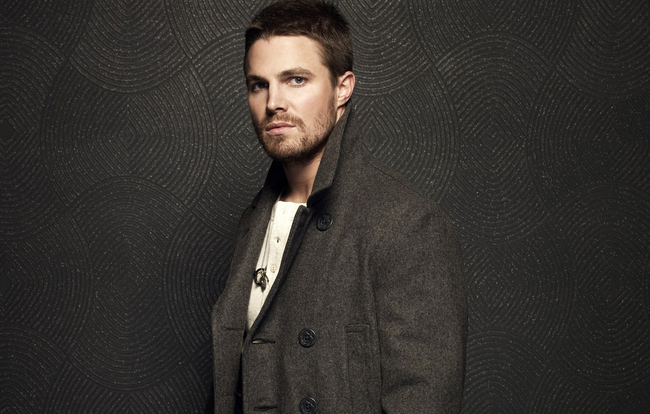 Photo wallpaper actor, male, coat, Stephen Amell, Stephen Amell