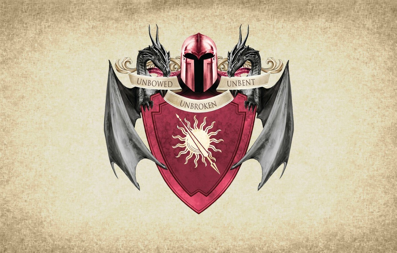 Photo wallpaper sun, symbol, series, dragon, A Song of Ice and Fire, Game of Thrones, shield, Martell, …
