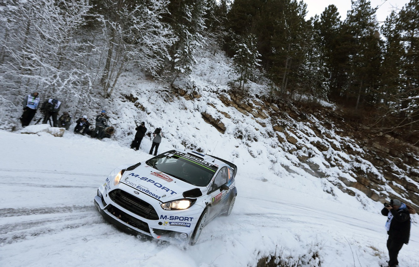 Photo wallpaper Ford, Snow, WRC, Rally, Fiesta, There Miss