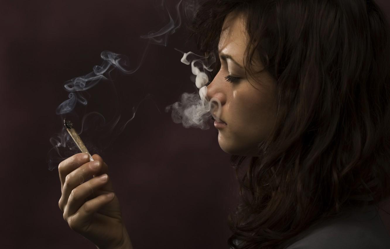Wallpaper Smoke Woman Marijuana Images For Desktop Section Stil Download