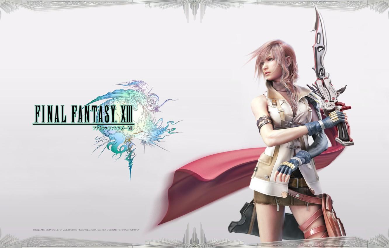 Wallpaper Girl Sword Final Fantasy Xiii Lightning Ff 13 Images
