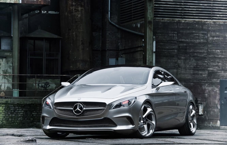 Photo wallpaper auto, silver, coupe, concept, the concept, 2012, sedan, drives, mercedes-benz, Mercedes, Mercedes CSC