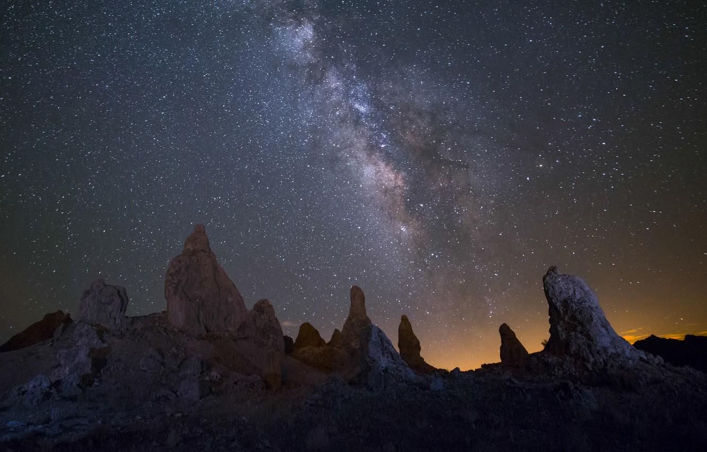 Photo wallpaper stars, landscape, night, nature, the milky way