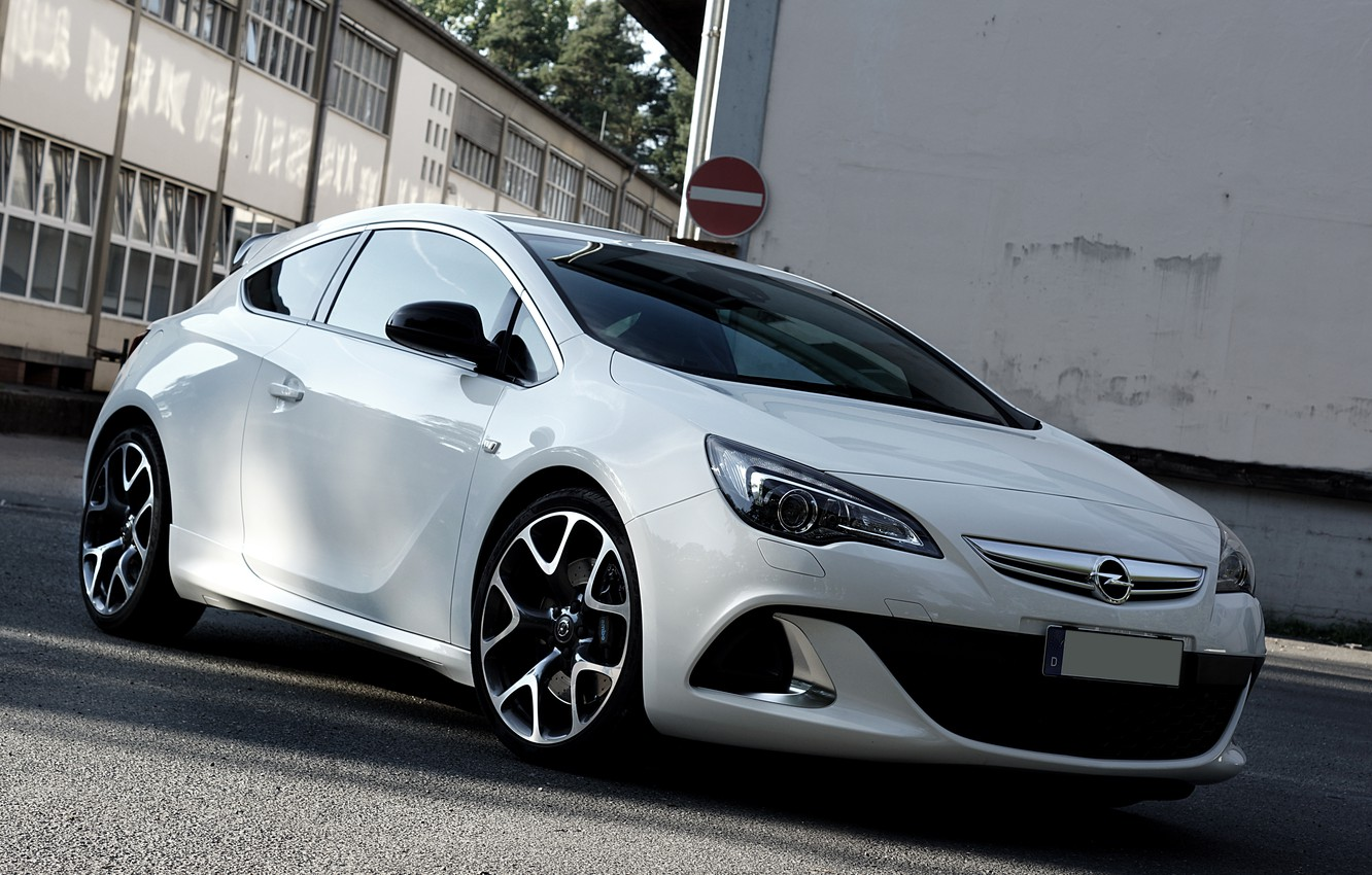 Photo wallpaper Opel, White, Astra, Opc