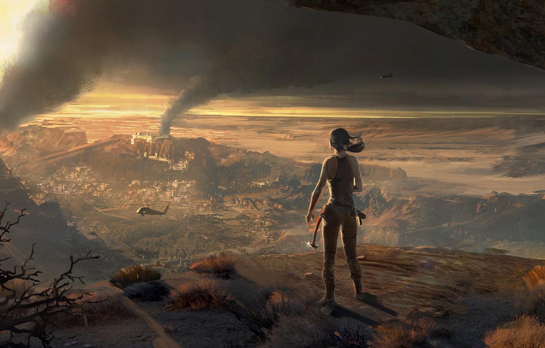 Photo wallpaper Girl, Lara Croft, Art, Lara Croft, Rise of the: Tomb Raider