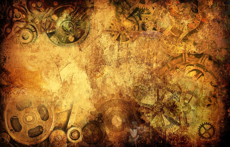 Photo wallpaper style, Wallpaper, watch, steampunk, wallpaper, grunge, steampunk, watch