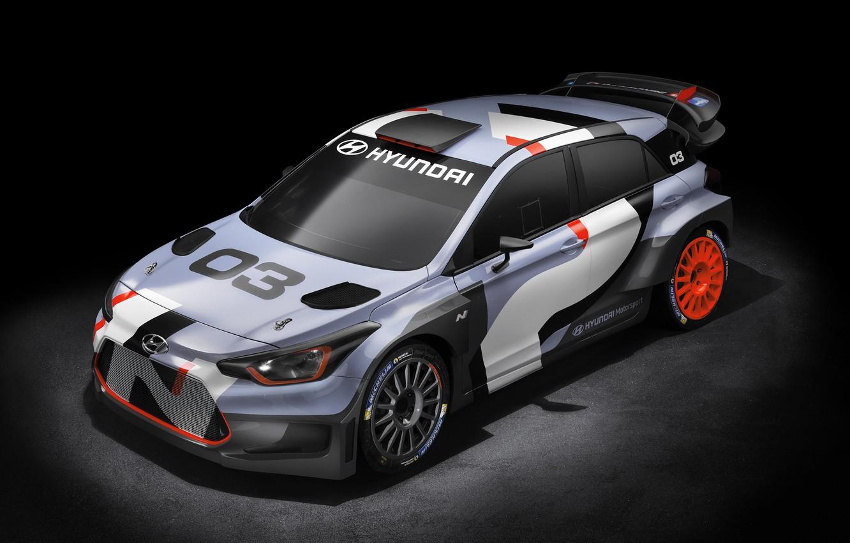 Photo wallpaper Concept, Hyundai, WRC, i20, 2015, Hyundai