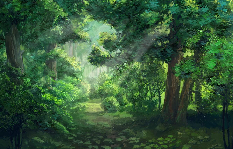 Photo wallpaper forest, everlasting summer, endless summer, iichan-eroge