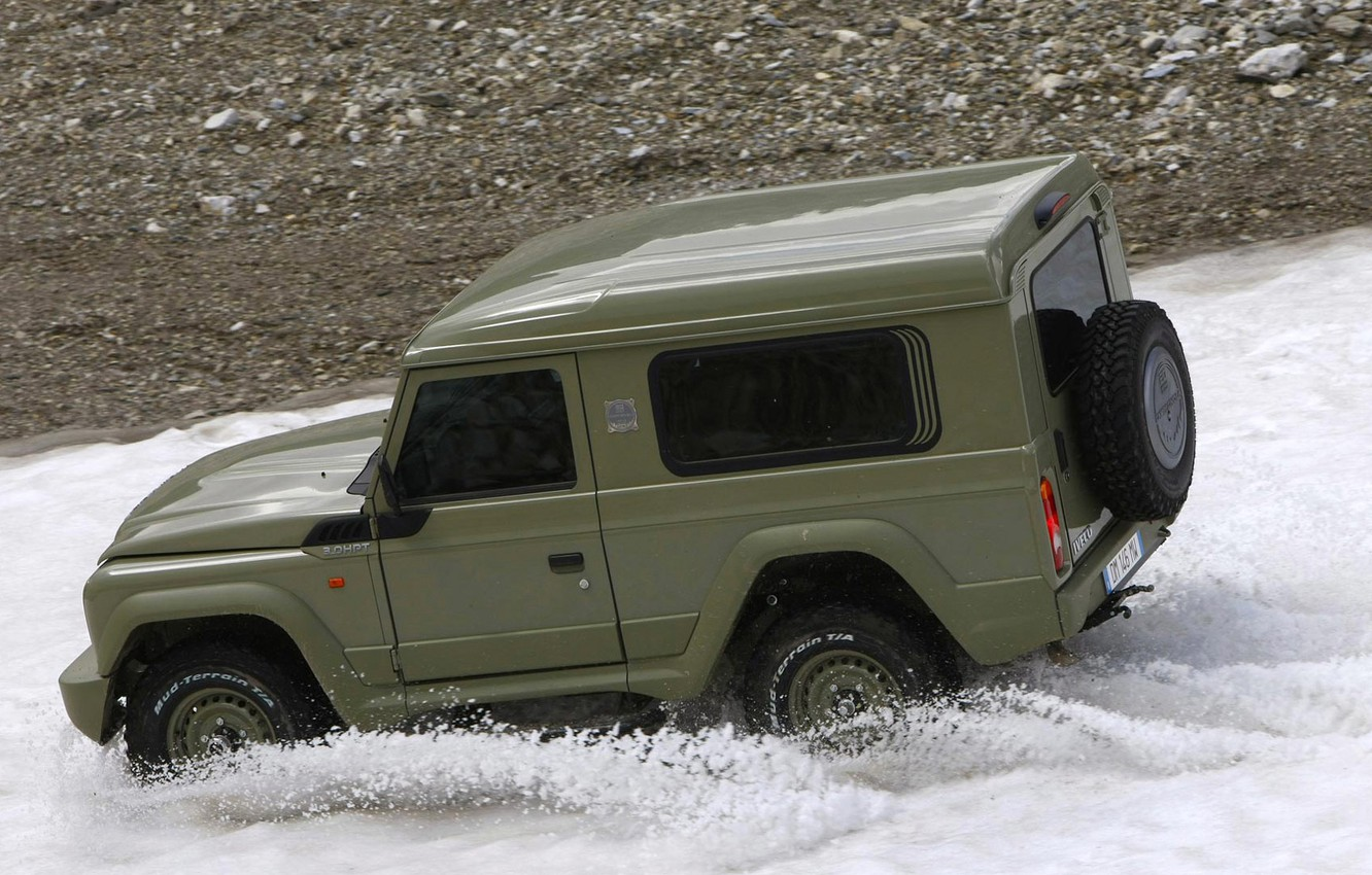 Photo wallpaper snow, SUV, Iveco, campagnola