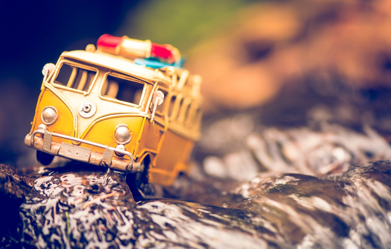 Photo wallpaper macro, tree, model, toy, shooting, machine, photo, photographer, obstacle, minibus, model, Jamie Frith