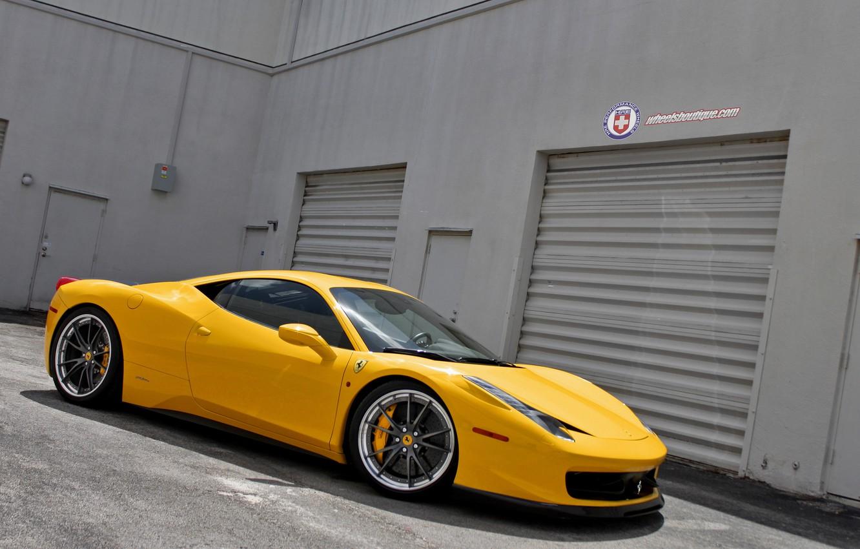 Photo wallpaper Ferrari, 458, Wheels, Shop, HRE S104