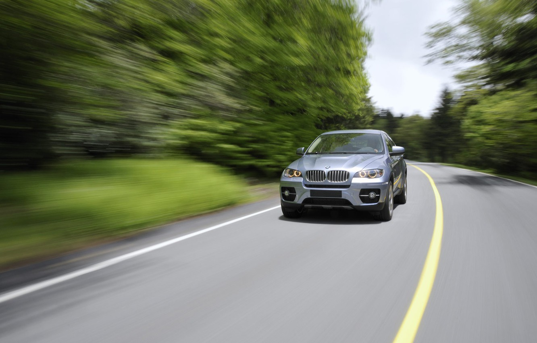 Photo wallpaper road, machine, trees, bmw, BMW, road, auto, trees