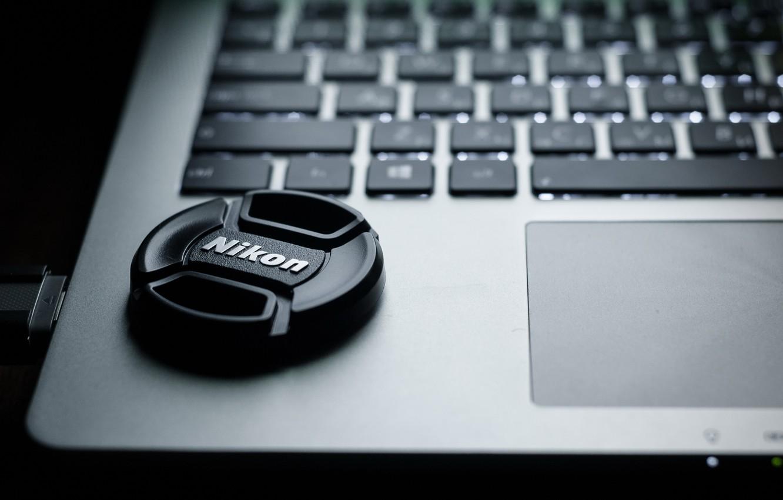 Photo wallpaper computer, night, grey, black, Wallpaper, keys, nikon, laptop