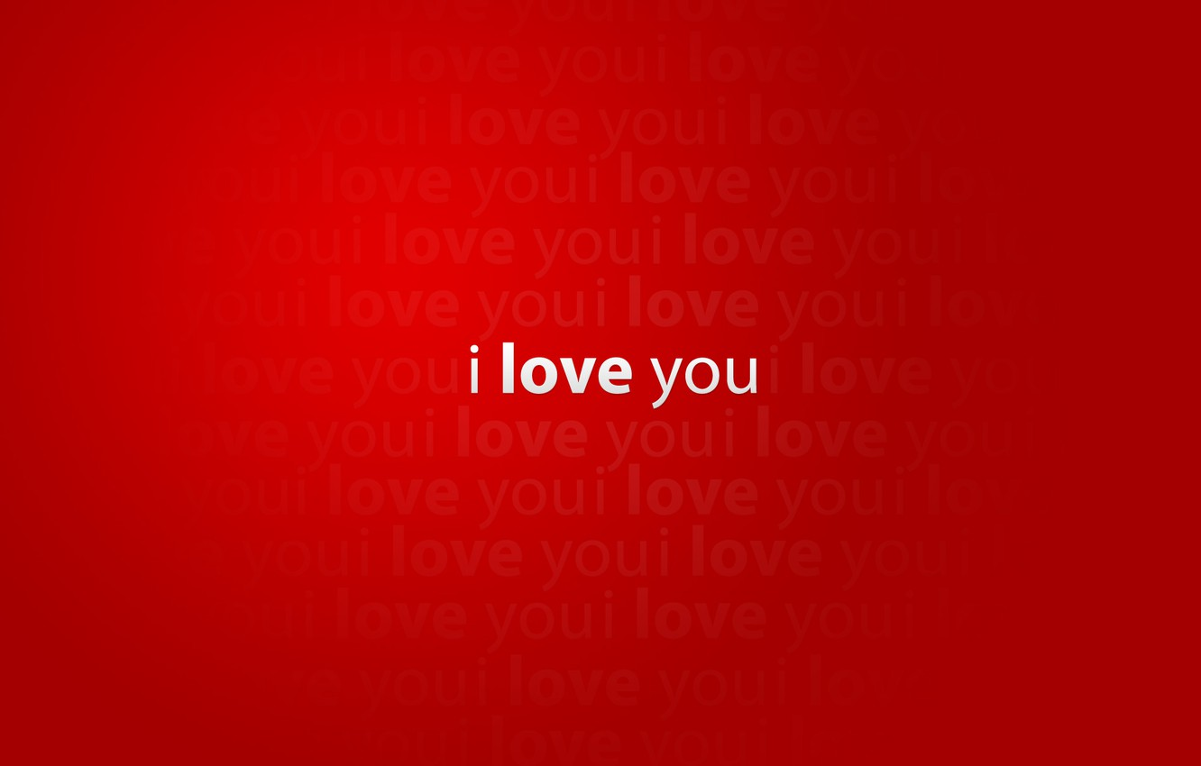 Wallpaper love, red, creative, red, words, i love you, mood