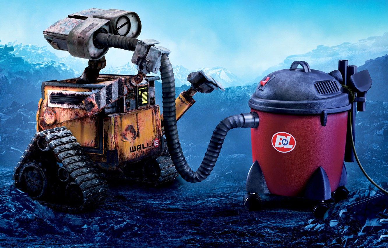Photo wallpaper robot, Wall-e, vacuum cleaner