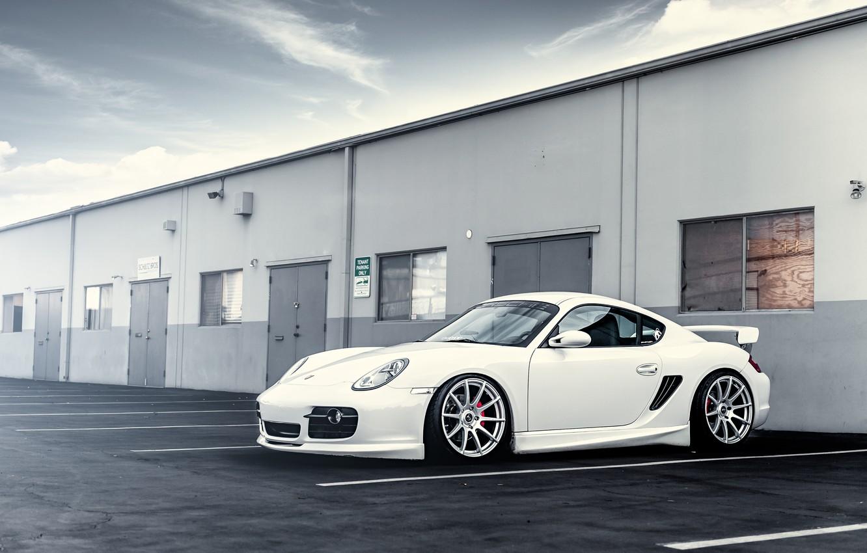 Photo wallpaper white, Porsche, white, drives, Porsche