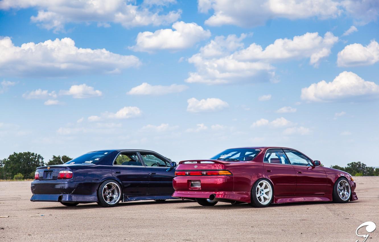 Photo wallpaper red, toyota, tuning, Toyota, JDM, Chaser, mark 2, mark 2, tourer v, Toyota chayzer