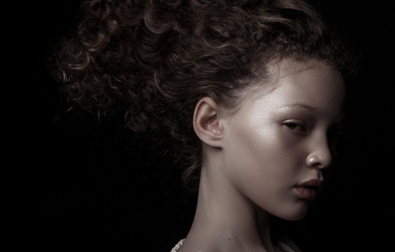 Photo wallpaper model, girl, profile, Berkeley Clayborne