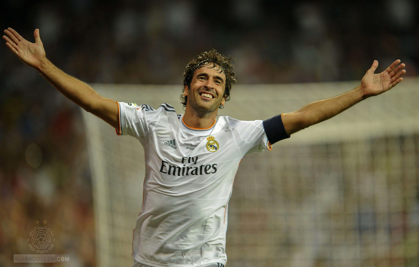 Photo wallpaper football, real madrid, real Madrid, football, Raul, Raul, farewell match Raul 2013