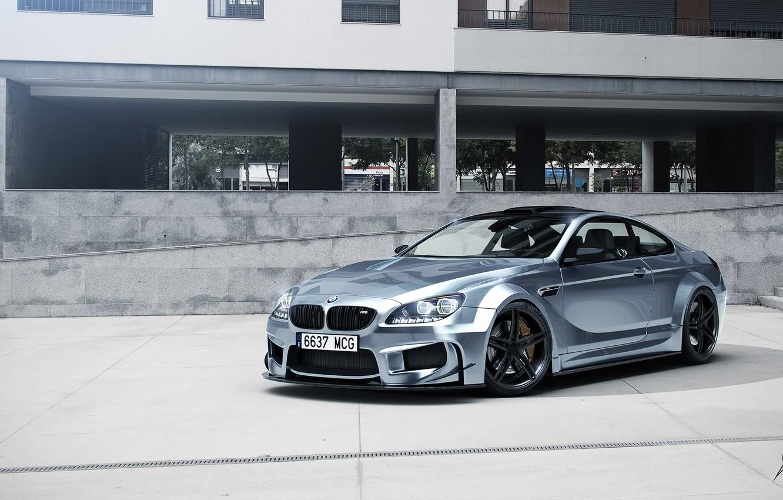 Photo wallpaper BMW, Car, Prior Design, Silver, Wheels