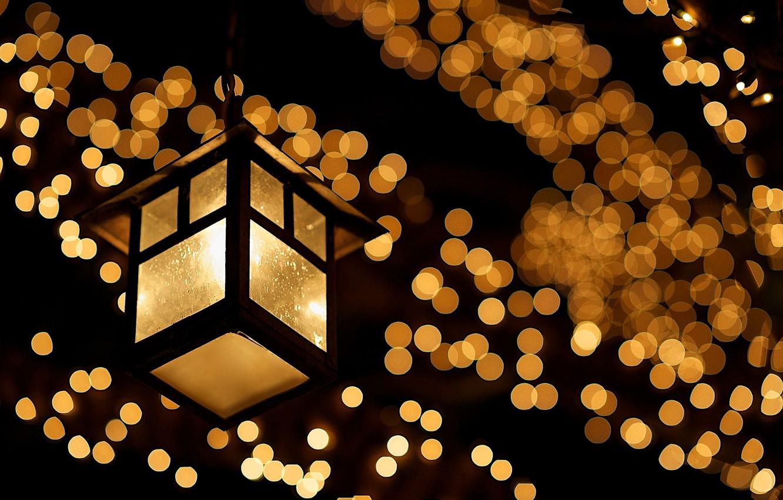 Wallpaper Glass Macro Light Night Lights Lamp The