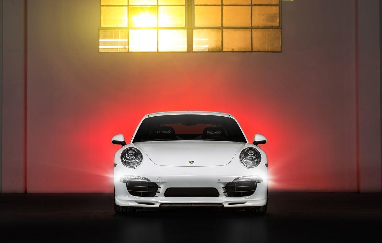Photo wallpaper Porsche, Porsche, Coupe, Carrera, front, Edition, 991, V-GT