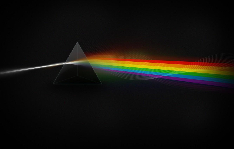 Photo wallpaper Stars, Light, Dark Side, Color, Prism