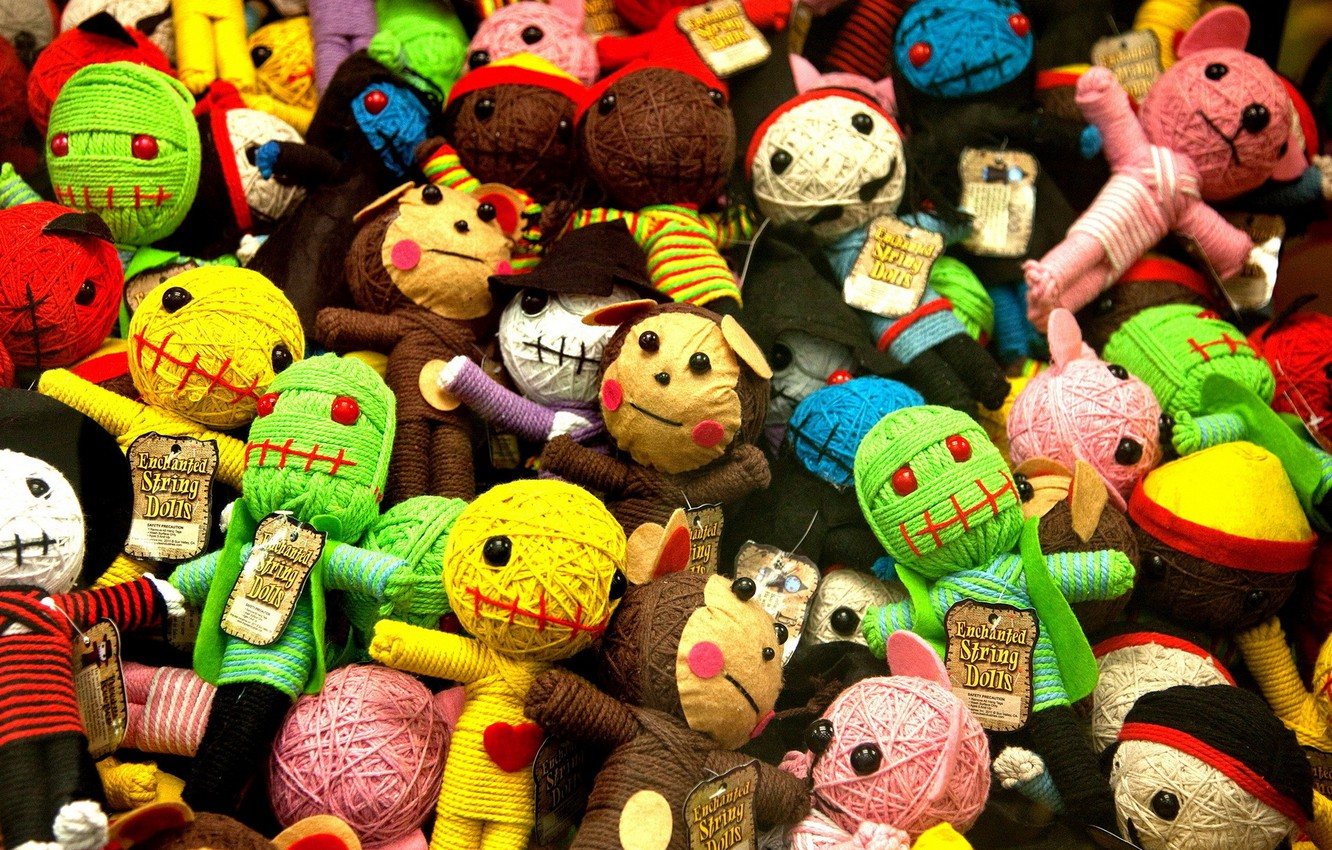 Photo wallpaper background, toys, a lot