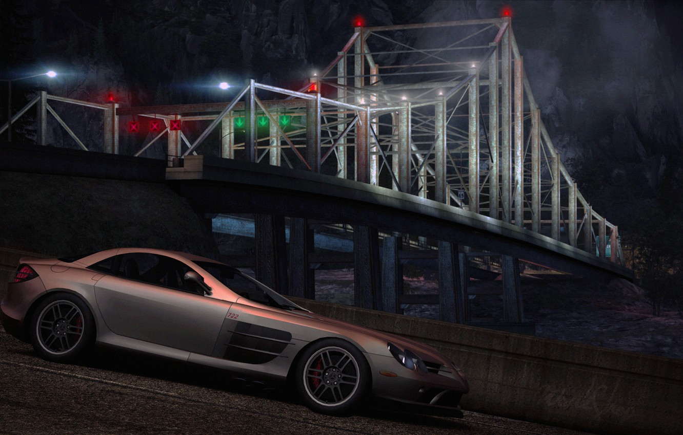 Wallpaper City Need For Speed World Mercedes Mclaren 722