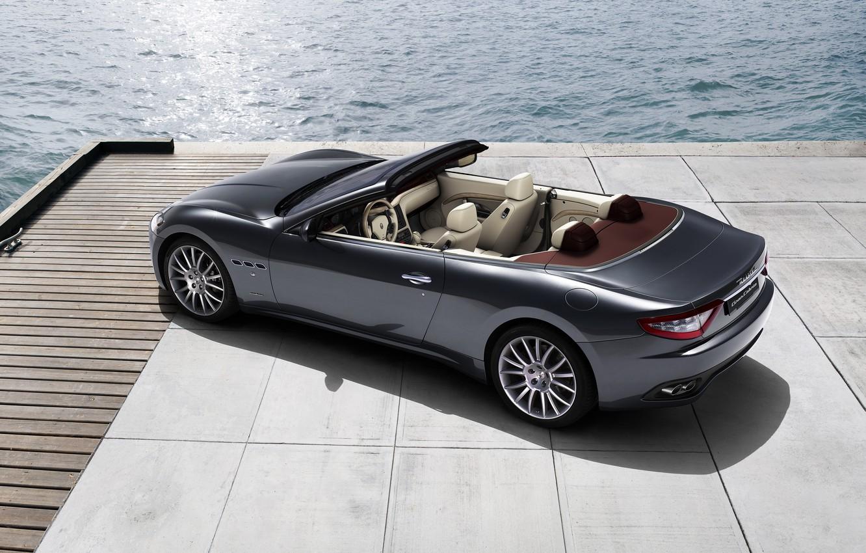 Photo wallpaper sea, Maserati, Italy, convertible, top, back, main, Maserati
