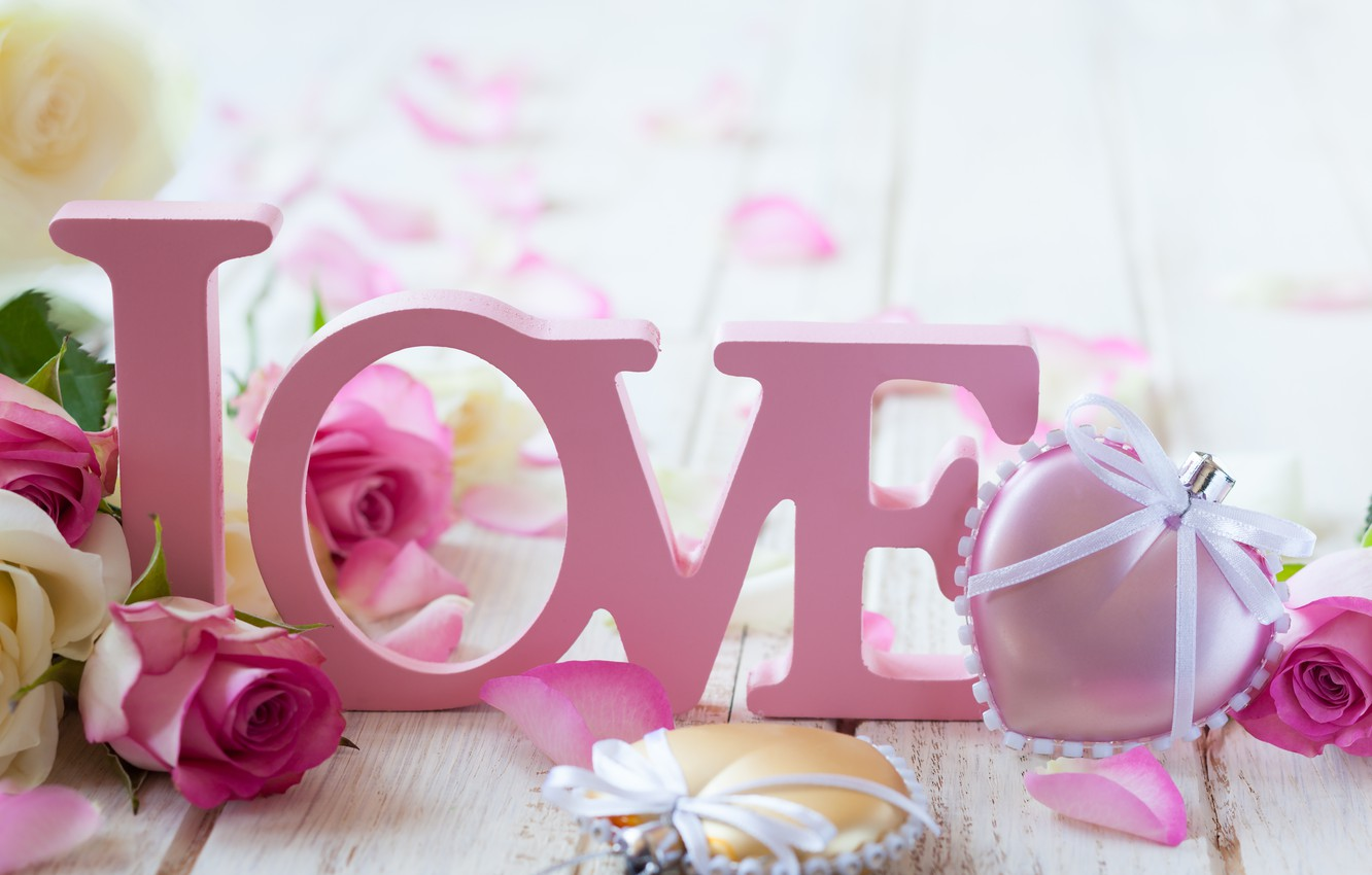 Photo wallpaper love, flowers, roses, valentine's day