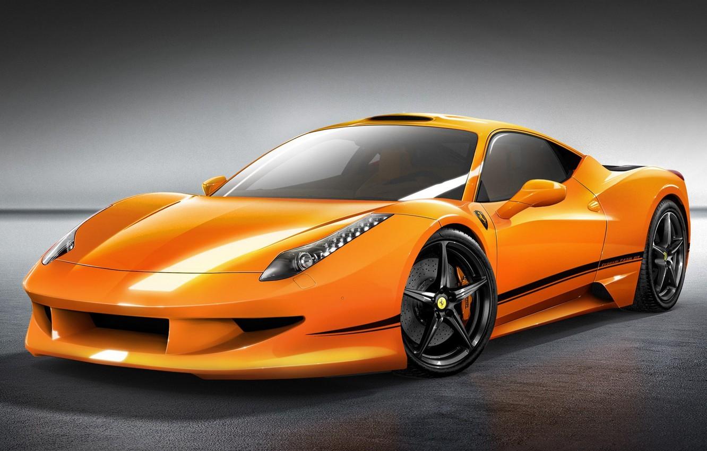 Photo wallpaper car, machine, auto, orange, Ferrari, Ferrari, supercar, supercar, 458, orange, avto, Italia