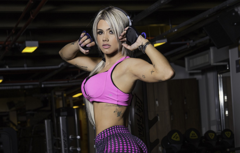 Photo wallpaper sexy, ass, model, butt, pose, workout, fitness, sportswear, janaina santucci
