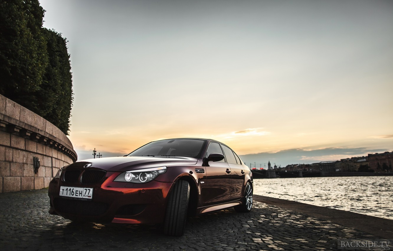 Photo wallpaper machine, auto, BMW, optics, auto, E60, 5-series