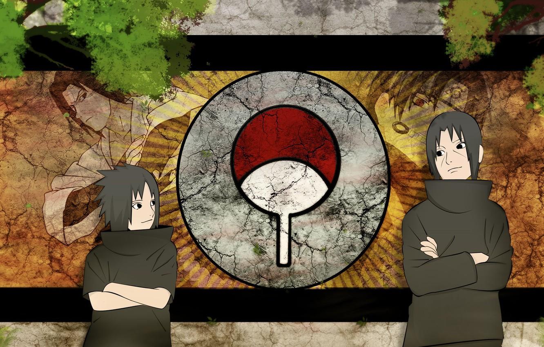 Photo wallpaper Sasuke, naruto, anime, art, Itachi, Uchiha clan
