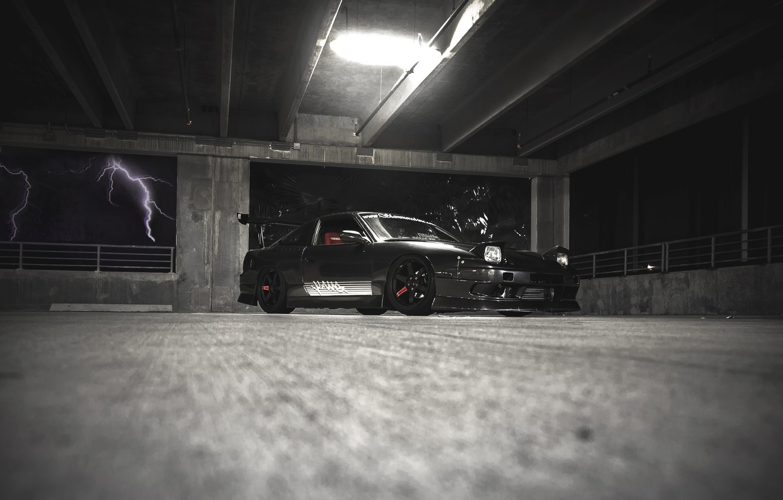 Photo wallpaper tuning, nissan, black, black, Nissan, jdm, 240sx