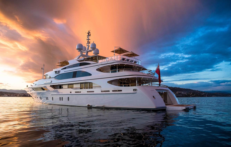 Photo wallpaper yacht, Suite, uxury motor yacht Galaxy