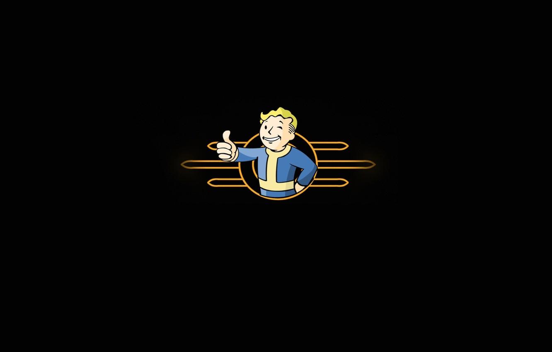 Photo wallpaper Wallpaper, the game, fallout 3, fallout 3, vault boy, vault 101