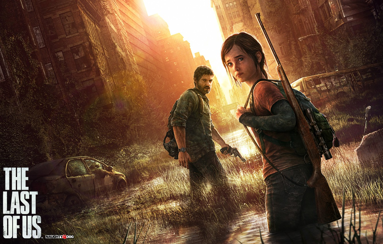 Photo wallpaper the city, weapons, home, devastation, Ellie, rifle, survivors, The Last of Us, Joel, Naughty Dog, …
