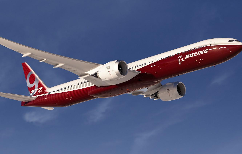 Photo wallpaper speed, Boeing, Flight, Boeing, The plane, Passenger, B-777
