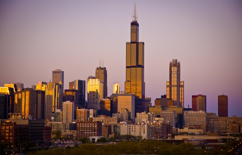 Photo wallpaper building, skyscrapers, America, Chicago, Chicago, USA, skyscrapers