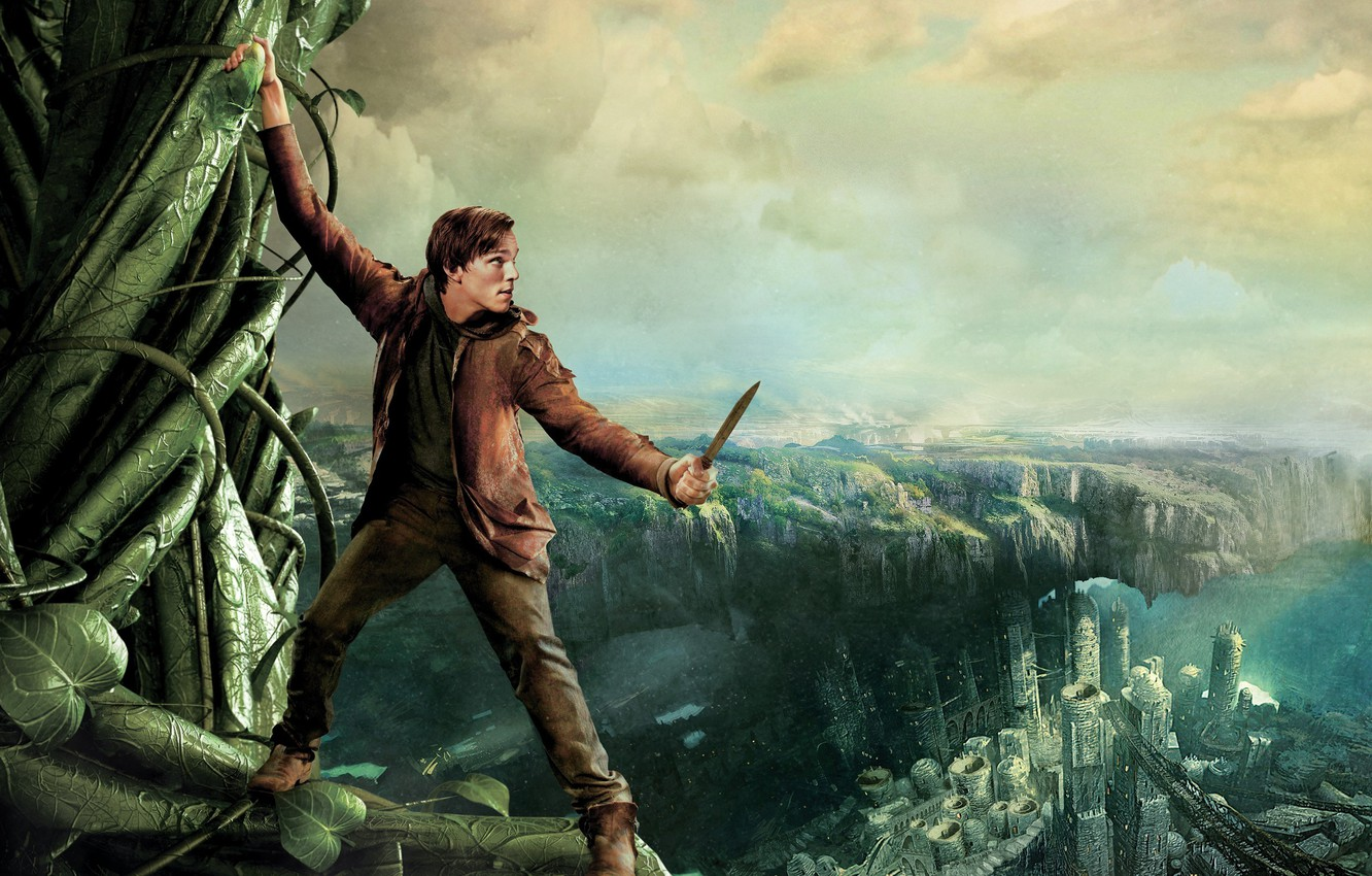 Photo wallpaper tale, Jack the giant Slayer, Nicholas Hoult, Jack the Giant Slayer, Beanstalk