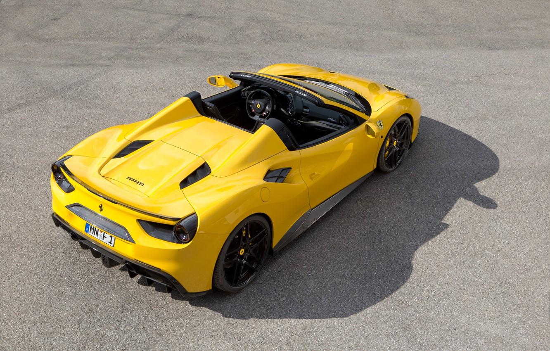 Photo wallpaper yellow, Ferrari, car, Ferrari, back, Spider, Rosso, Novitec, 488