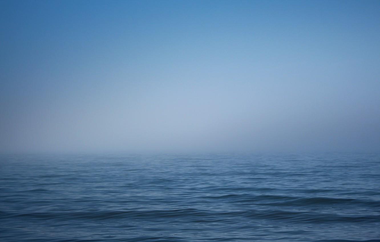 Photo wallpaper sea, the sky, water, fog, wave, horizon