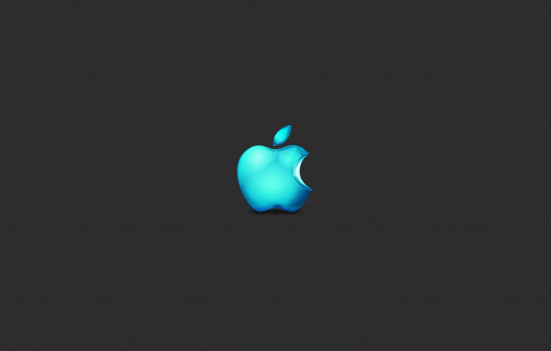 Photo wallpaper Apple, Minimalism, Apple, Grey, Brand