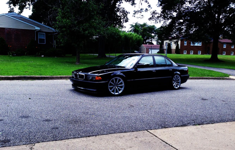 Photo wallpaper BMW, Black, Boomer, BMW, E38, 750il
