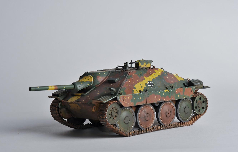 "Photo wallpaper toy, installation, self-propelled, artillery, model, easy, German, Hetzer, ""Hettser, Jagdpanzer 38"